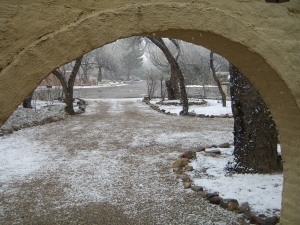 front drive in Tucson in snow