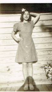 My mom as a young lady.