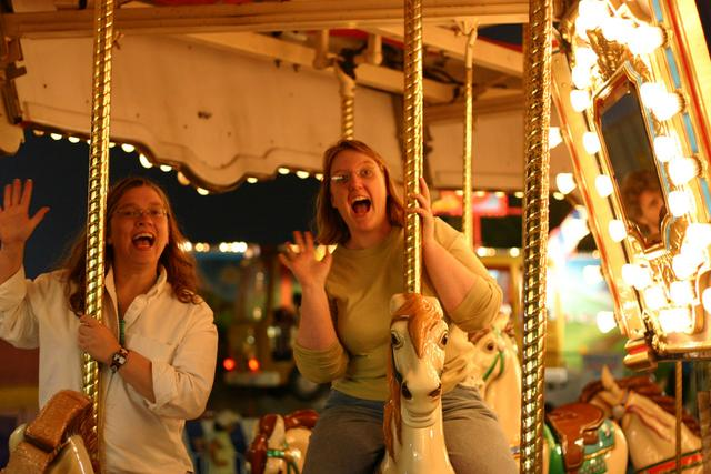 On a Carousel at the NC State Fair