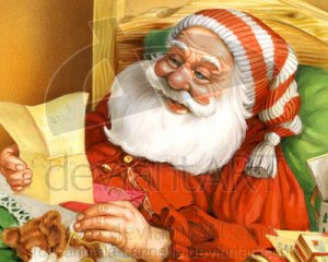Santa Claus reading letter, by cannella_cannella deviantArt.com