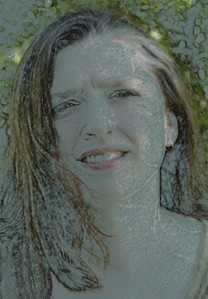 Wendy - photo manipulated by W. Holcombe