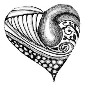 hearts gray scale