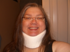 Me with cervical collar
