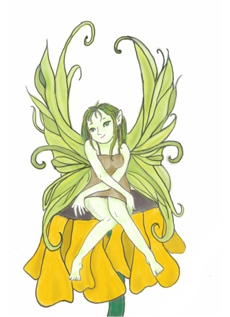 A little fairy, something I created. Creating is a great way to relieve stress.