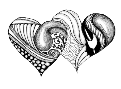 hearts-black-and-white