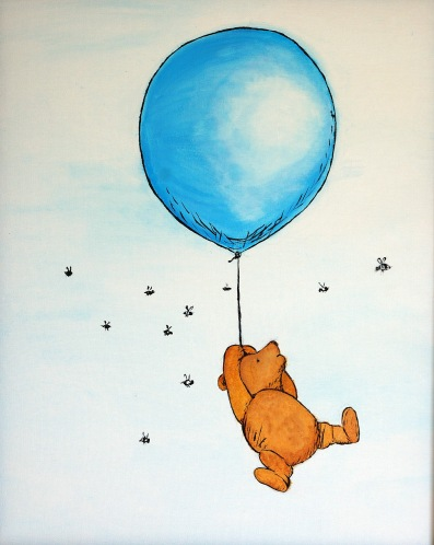 Pooh Bear with Blue Baloon1