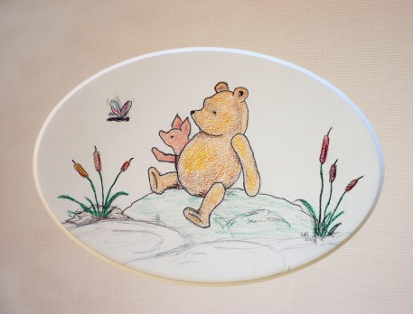 Pooh and Piglet with dragon fly 2
